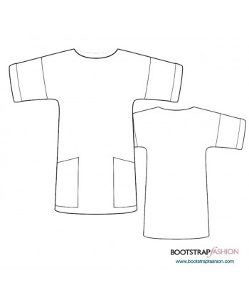 Custom-Fit Sewing Patterns - Tunic With Long Sleeves
