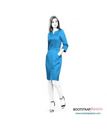 Custom-Fit Sewing Patterns - Sheath With Front Slit