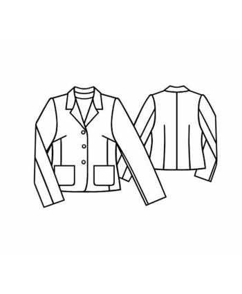 Custom-Fit Sewing Patterns - Unlined Notched Collar Jacket