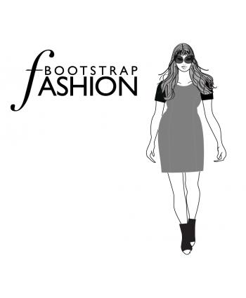 Custom-Fit Sewing Patterns - Princess Seams Dress with Short Sleeves