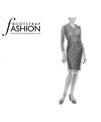 Custom-Fit Sewing Patterns - Straight Skirt With Slit Opening