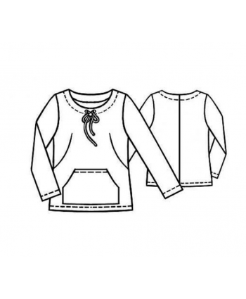 Custom-Fit Sewing Patterns - Kangaroo Pocket Sweatshirt