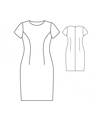 Custom-Fit Sewing Patterns - Basic Fitted Dress with Short Sleeves