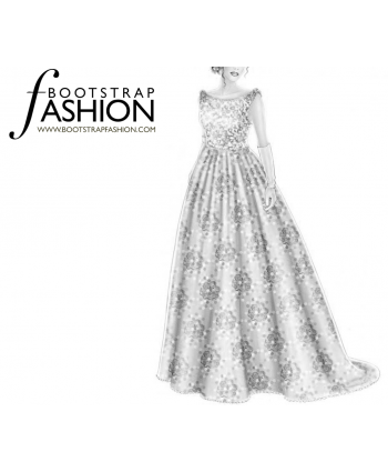 Custom-Fit Sewing Patterns - Wedding Dress
