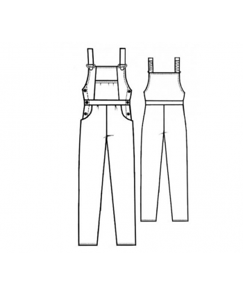 Custom-Fit Sewing Patterns - Classic Overalls