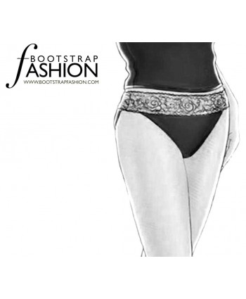 Custom-Fit Sewing Patterns - Lace Trimmed High Cut Briefs