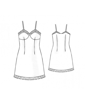 Custom-Fit Sewing Patterns - Babydoll Nightgown