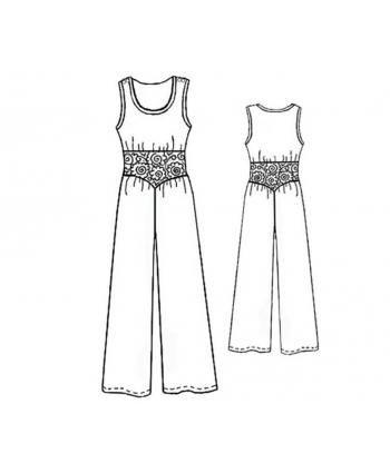 Custom-Fit Sewing Patterns - Band Waist Wide Leg Jumper