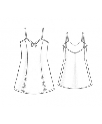Custom-Fit Sewing Patterns - Spaghetti Strap Princess Seam Nighty