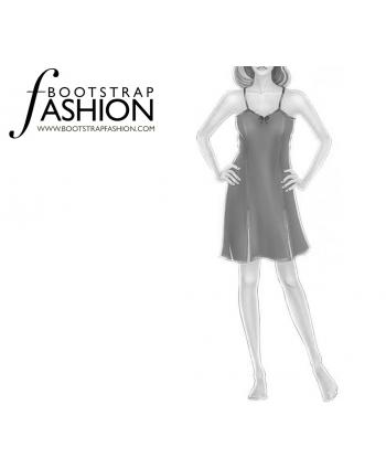 Custom-Fit Sewing Patterns - Spaghetti Strap Princess Seam Nighty
