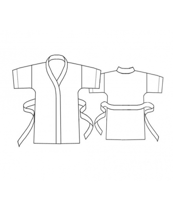 Custom-Fit Sewing Patterns - Short Robe with Tie