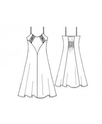 Custom-Fit Sewing Patterns - Long Tank Nightgown