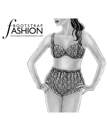 Custom-Fit Sewing Patterns - Vintage Style Bra