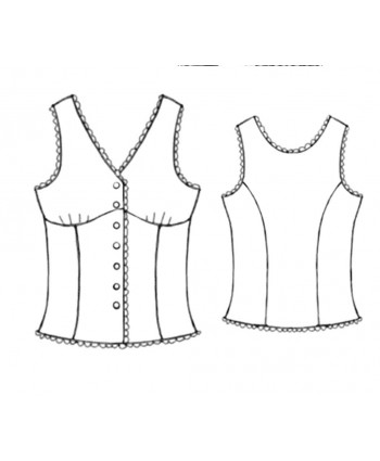 Custom-Fit Sewing Patterns - Pajama Top