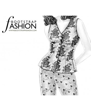 Custom-Fit Sewing Patterns - Pajama Top