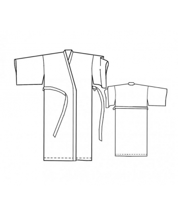 Custom-Fit Sewing Patterns - Basic Kimono Robe