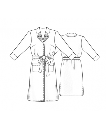 Custom-Fit Sewing Patterns - Pocketed Long Lounge Robe