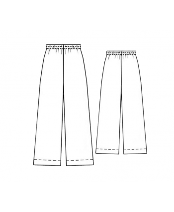 Custom-Fit Sewing Patterns - Pajama Bottoms