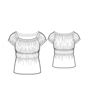 Custom-Fit Sewing Patterns - Peasant Style Blouse