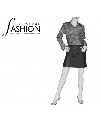 Custom-Fit Sewing Patterns - Mini Skirt With Front Zipper