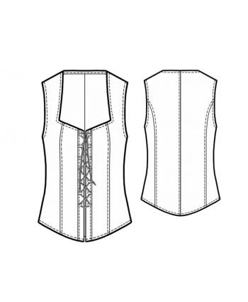 Custom-Fit Sewing Patterns - Front Lace Up Corset