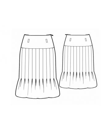 Custom-Fit Sewing Patterns - Gathers and Pleats Skirt
