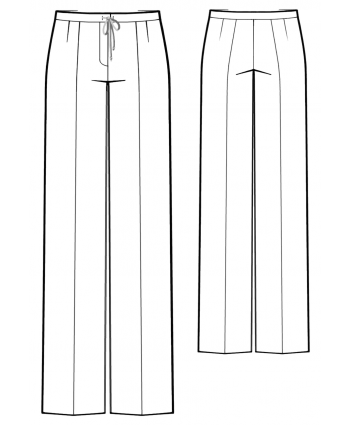 Custom-Fit Sewing Patterns - Straight Leg Drawstring Pants