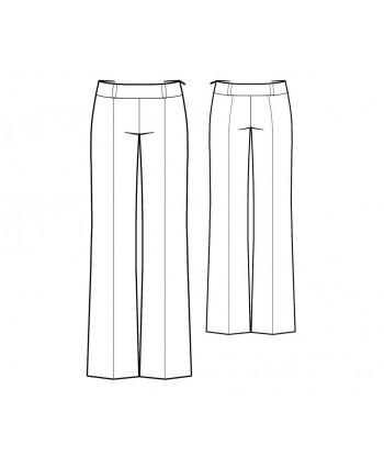 Custom-Fit Sewing Patterns - Clean Front Bootcut Trouser