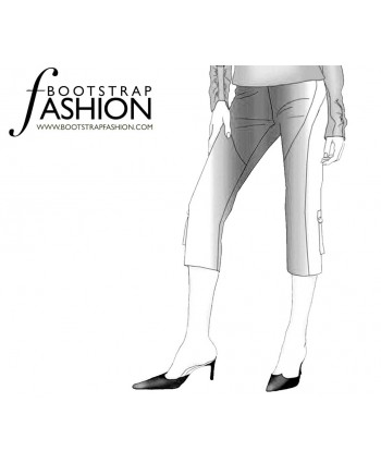 Custom-Fit Sewing Patterns - Cropped Multi-Seamed Cargo Pants