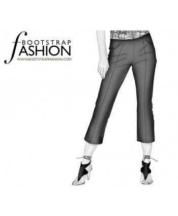Custom-Fit Sewing Patterns - Front Seam Cropped Pants