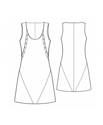 Custom-Fit Sewing Patterns - Multi Seam A-line Tank Dress