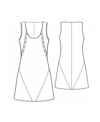 Custom-Fit Sewing Patterns - Multi Seam A-line Tank Dress