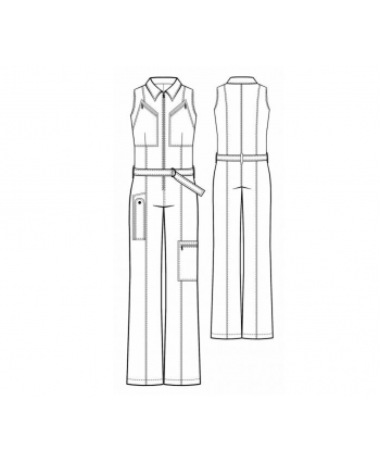 Custom-Fit Sewing Patterns - 1970's Zip Up Jumpsuit