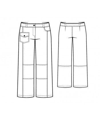 Custom-Fit Sewing Patterns - Top-Stitched Jeans with Hip Pocket