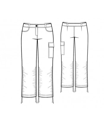 Custom-Fit Sewing Patterns - Shirred-Leg Thigh-Pocket Jeans