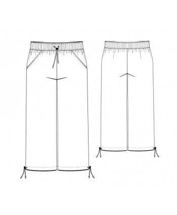 Custom-Fit Sewing Patterns - Drawstring Cropped Pants