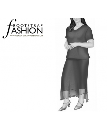 Custom-Fit Sewing Patterns - Hem Overlap Strait Skirt