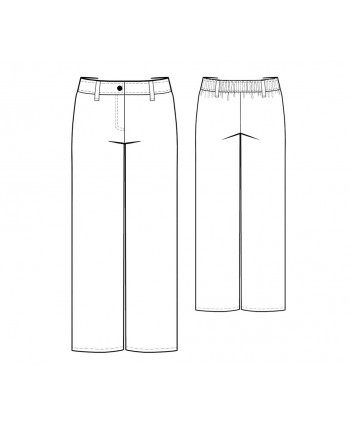 Custom-Fit Sewing Patterns - Straight Leg Trousers