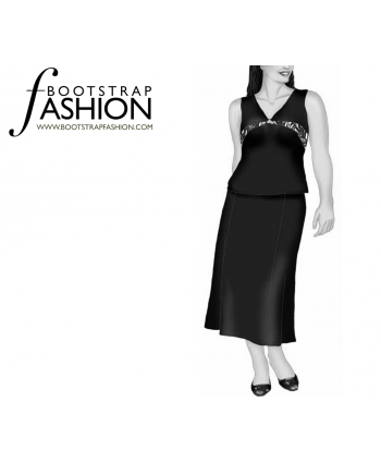 Custom-Fit Sewing Patterns - Basic Strait Ankle Skirt