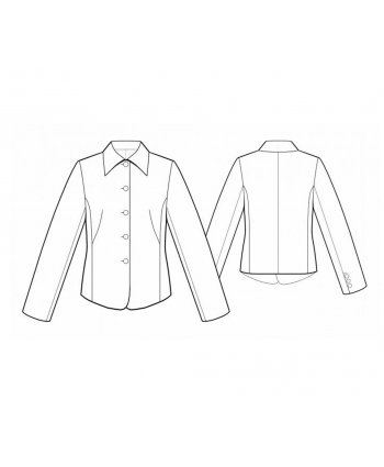Custom-Fit Sewing Patterns - Button Down Jacket