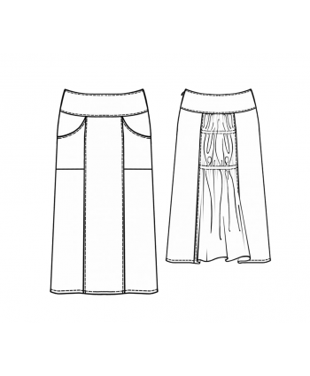 Custom-Fit Sewing Patterns - Paneled Skirt With Yoke