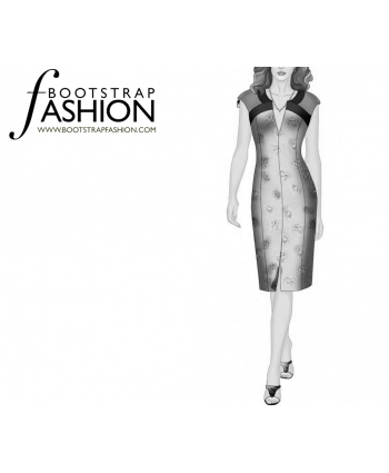 Custom-Fit Sewing Patterns - Fitted Sheath With Slashed Neckline