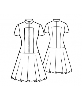 Custom-Fit Sewing Patterns - Zip-Up Skater Dress