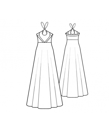 Custom-Fit Sewing Patterns - Halter Neck Maxi