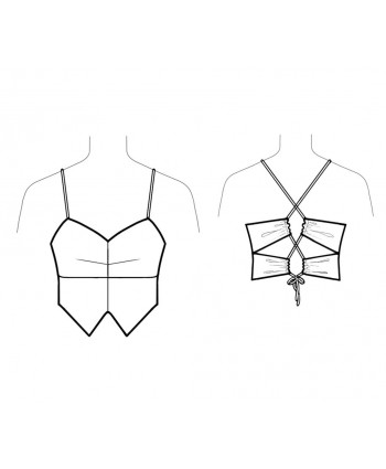 Custom-Fit Sewing Patterns - Double-Tie Back Top