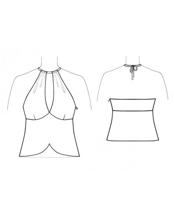 Custom-Fit Sewing Patterns - Cropped Peekaboo Halter Top