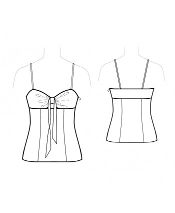 Custom-Fit Sewing Patterns - Spaghetti-Strap Tie-Front Top