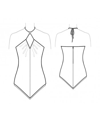 Custom-Fit Sewing Patterns - Handkerchief Hem Halter Top
