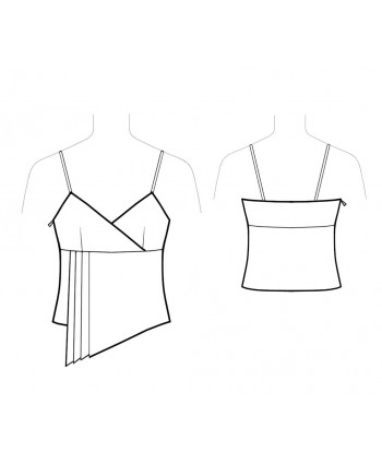 Custom-Fit Sewing Patterns - Asymmetrical Spaghetti-Strap Top