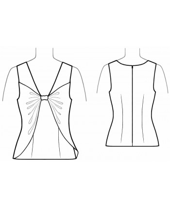 Custom-Fit Sewing Patterns - Spaghetti-Strap Top with Cross Back